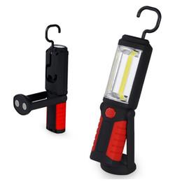 Wholesale Hook Magnet Led Flashlight - Portable Hands-free LED COB Work Light Flashlight with Adjusting Stand , Hanging Hook and Magnet Base