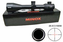 Wholesale Scope Mildot - Hot Selling High Quality MINOX HD ZA 5I 3-15X50 SF Red Mildot Rifle Scope for Outdoor Hunting and Airsoft Sports
