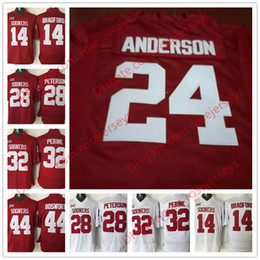 Wholesale Bradford White - Custom Oklahoma Sooners #14 Sam Bradford 24 Rodney Anderson 81 Mark Andrews 19 Caleb Kelly Red White Stitched College Football Jerseys S-3XL