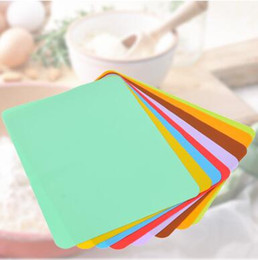 Wholesale Baby Food Plates - 30*40cm Food Grade Waterproof Silicone Placemat Bar Mat Baby Kids Colorful Plate Mat Table Mat Home Kitchen Tableware Pads CCA8026 50pcs