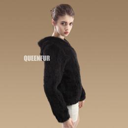 Wholesale Knitted Mink Coat Hood - Wholesale-2015 New Genuine Mink Fur Coats With Hood Women Nature Knit Mink Fur Jacket Winter Warm Fur Outwear