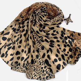 Wholesale Tartan Leopard Scarf - 2 Color Generous Leopard Scarf poncho chiffon shawls and scarves Warmful Pashmina Fall kerchief Winter Cape European Fashion