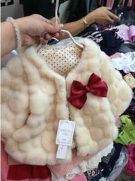 Wholesale Pink Fur Jacket Small - Wholesale-Girls wear short sleeved autumn coat cloak small luxury coat baby girls Faux Fur jacket.