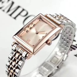 Wholesale Diamond Girls Dress - High quality women dress watches luxury brand diamond Rectangle Dial Full Stainless Steel band fashion quartz watch for laides girls female