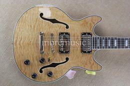 Wholesale Semi Hollow Body Guitar Cheap - Custom Shop Natural Wave Classic 335 Semi Hollow Jazz Guitar High Quality Cheap