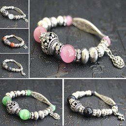 Wholesale Crystal Mala - Quartz Diffuser Bracelet Natural Crystal Gem Stone Mala Beads Tree of Life Charms Meditation Ethnic Jewelry