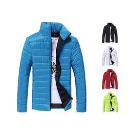 Wholesale Mens Coat Korean - S5Q Mens Casual Korean Jacket Padded Stand Collar Coat Parka Winter Warm Outwear AAAEIM