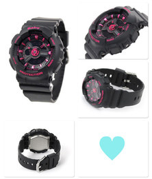 Wholesale Red Military Belt - New digital LED ladies quartz sports watch belt rubber army military quartz watch waterproof wrist accessories and all functional boxes baby