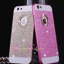 Wholesale Iphone Hard Diamond Case - For iPhone 7 6 5 4.7 plus Diamond Glitter Hard Cell Phone Back Case Cover for iphone7 6 6plus 5s