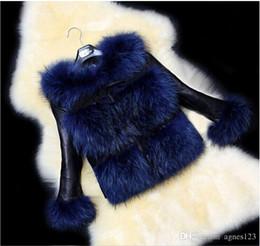 Wholesale Short Rabbit Fur Coats - New Fur Coat Fox Coat Women Women Sleeves Rabbit Splicing of High-Grade Fur Coat in Winter Fashion free shipping
