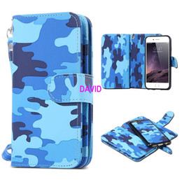 Wholesale Mobile Phone For Army - Card Slot Flip Case For iPhone 6 Plus   6S Plus PU Leather Mobile Phone Wallet Holster + Back Cover Bag Outdoor Army Man Style