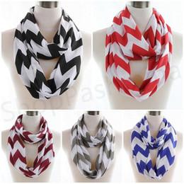 Wholesale Wholesale Chevron Jersey Infinity Scarf - NEW Fashion Womens Girls Soft Jersey Zag Chevron Infinity Scarf Scarves 2015 hot selling winter scarf women 80*180cm