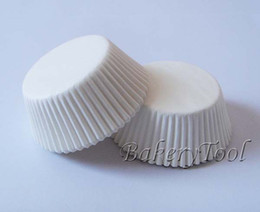 Wholesale Plain Cupcake Papers - Wholesale- On Promotion 100 pcs Plain White Cake packing Cup cupcake case greaseproof cupcake liner paper baking cup muffin case