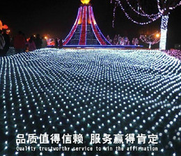 Wholesale red led parking lights - 10M * 8M 2600 LED net light net light Courtyard park landscape lights Waterproof curtain lights LED lights series