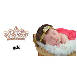 Wholesale baby tiara crowns - Lovely Princess Tiara Headband Royal Baby Pearl Crown Baby Headband Rhinestone children accessories Crystal crown hair band Free Shipping