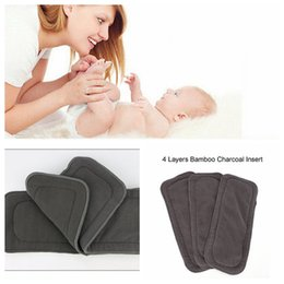 Wholesale Bamboo Fiber Diapers - 4 layers infant Diapers Changing Pad Bamboo charcoal fiber baby Diaper 50 pcs 14*33CM for baby YYA860