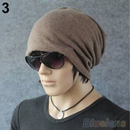 Wholesale Crochet Trapper Hat - 2015 New Fashion Women Men Cotton Hat Baggy Beanie Ski Crochet Warm Winter Hats