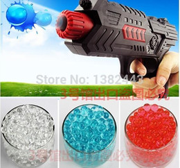 Wholesale Toy Soft Bullet Guns - HOT 2015 free shipping Water bombs soft crystal water paintball bullet gun toy bibulous water Guns accessories 7 Colors 10000pcs