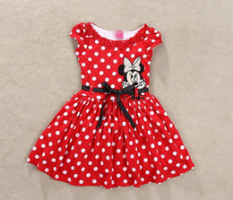 vêtements les plus récents Promotion Date Casual Party Dress Tutu Dot robes enfants Filles Vêtements Baby Girl Summer Filles Robe Minnie Mouse Girl Dress Red Rose