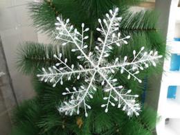 Wholesale White Snowflake Tree Ornaments - Plastic Wire drawing Snowflakes Christmas Tree Decorated Christmas Tree Ornaments Christmas Snowflake Three White Snowflake Ornaments Party
