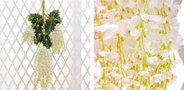 1.6-метровый элегантный искусственный шелк цветок Вистерия лозы ротанга для свадебных центральные украшения букет гирлянда Главная 2 размера от