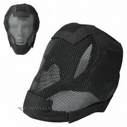 Proteção de arame camuflagem capacete tático máscara de esgrima militar protetora cor preta para atividade ao ar livre ciclismo 1 pcs de