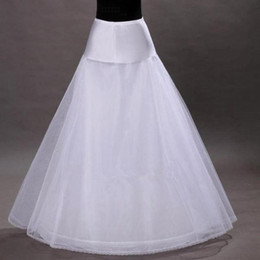 Wholesale Lace Petticoats - 2016 Hot A-Line White Wedding Petticoats Free Size Bridal Slip Underskirt Crinoline For Wedding Dresses Wedding Accessories CPA202