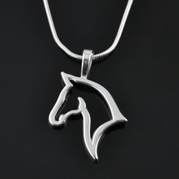 Wholesale Head Moulds - Beautiful Korean style fashion Rhodium Plated Steel Mould Lucky Animal Horse Head pendant necklace Women's Fashion Jewelry