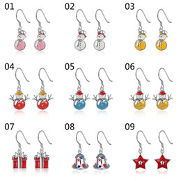 Wholesale Earrings Wholesale Mixed Order Silver - Fashion Cute Style Christmas Xmas Holidays Earrings 925 Silver Plated Drop Earrings for women girl multiple styles mixed order ER193