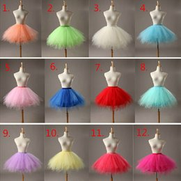 Wholesale Tulle Slips - In Stock Multi Colored Short Petticoat Free Shipping Tulle Crinoline 2017 Hot Sale Underskirt For Girl Cheap Wedding Accessories