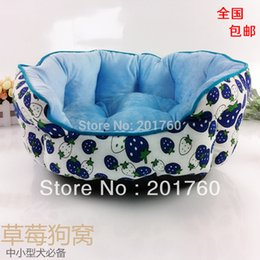 Wholesale Pet Nest Dog House Kennel8 - Wholesale-Kennel8 strawberry dog bed small dogs pet nest princess Dogs and cats pets bed