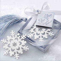Wholesale Order Bookmarks Favors - 2015 Fashion Special Design wedding decoration 10PCS Snowflake Bookmark wedding baby shower party favors gifts order<$15 no tracking