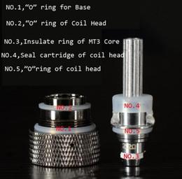 Selos de anel para atomizadores on-line-Selos de Silicone Atomizador Silicone Aquecedor Duplamente Substituível Anel Bobina Cabeça Anel O para MT3 H2 Atomizador Protank Clearomizers