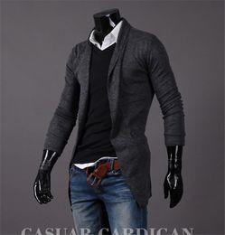 Wholesale Mens Korean Cotton Jackets - 2016 Mens Casual Stylish korean coats Men Jackets Coat Men's fashion casual long sleeve cardigan Trench jacket