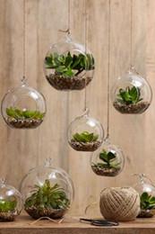 Wholesale Plants Holder - 6pcs lot Hanging Air Plant Moss Terrariums,Succulent Garden Decor Glass Ball Tealight Holders - Wedding or Home Decor candlestick