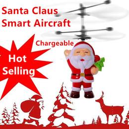 Noel Baba RC Uçan Top Drone Helikopter Dahili Shinning Çocuklar Gençler Noel hediyesi için LED Aydınlatma nereden
