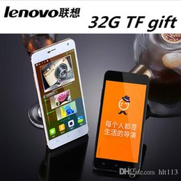 "Wholesale Lenovo Unlock - new Lenovo Phone MTK6592 Octa Core Android4.4 5.0"" HD 3G WCDMA GPS dual sim card 4G ram 32G Rom 13MP Camera Dual SIM unlocked mobile phone"