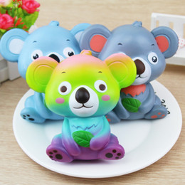 Wholesale Giant Gifts - Squishy cartoon koala 12 cm new giant lovely wet soft bread bear Squishies toy gift