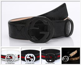 Wholesale Resin For Pvc - 2017 new hip brand buckle G designer belts for man men women genuine leather gold cinto belt Men's