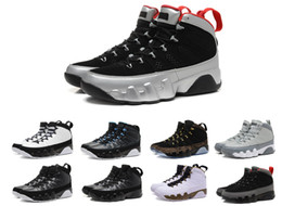 Wholesale Cool Leather Mens Boots - hot air retro 9 mens Basketball Shoes Cool Grey Black White authentic sports shoes retro IX Sneakers Boots