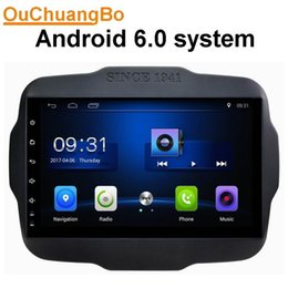 Wholesale Radio Nav - Ouchuangbo car audio gps nav 1024*600 android 6.0 for Jeep Renegade 2016 pohto with SWC USB BT AUX 3g wifi 4 Cores