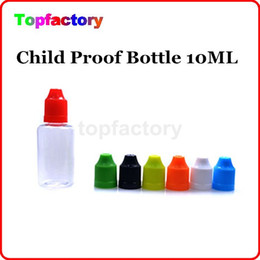 Wholesale Ego Dropper Bottles - Fast shipping eGo Empty Needle Empty Bottle 10ml Plastic Dropper Bottles with CHILD Proof Caps for E Liquid PE PET bottles