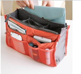 Wholesale Nylon Cosmetic Book Bag - HOT Sale!Multi Functional Cosmetic Bag Storage Travel Bag In Bag Handbag Mp3 Phone Cosmetic Book Storage Purse Free Shipping A5