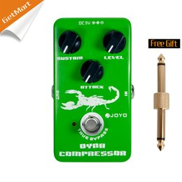 Wholesale Guitar Effects Pedals Metal - JOYO JF-10 Dynamic Compressor Guitar AMP Effect Pedal True Bypass Green metal pedal