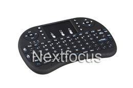 Wholesale Rii Mini Wireless Pc Qwerty - Fly Air Mouse Rii Mini i8 2.4GHz Wireless QWERTY Keyboard Touchpad for PC Pad Notebook Google S905 New Android TV Box Xbox 360 PS3 HTPC IPTV