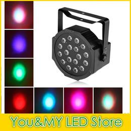 Wholesale Par Profile - Edison2011 Hot Sell 18*1W High Power RGB LED Par Light With DMX512 Master-Slave Stand Megar Par Profile Stage Light DJ Equipments