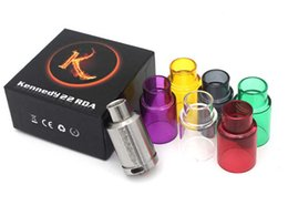 Wholesale China Ecig - 2015 China Top Ten Sell Ecig Wholesale Kennedy 22 RDA Stainless Steel atomizers with glass cap High Quality