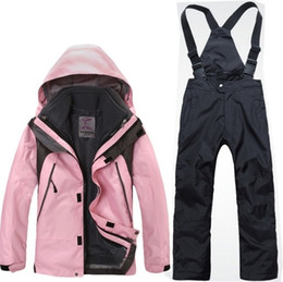 Wholesale Waterproof Clothes For Kids - Wholesale-Kids Winter Jacket Boys Girls Clothes Hooded Warm Fleece Coat Ski Suit Warm Waterproof Set Tops Ski Wear Coat 7 Colors For 4-14T