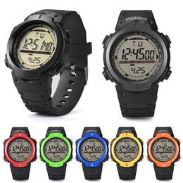 cf98595067c2 Hot 2017 Hombres Deportes Al Aire Libre Reloj de Pulsera Multifunción Electrónica  LED Relojes Digitales Unisex Impermeable Reloj Militar Relojes de Regalo ...
