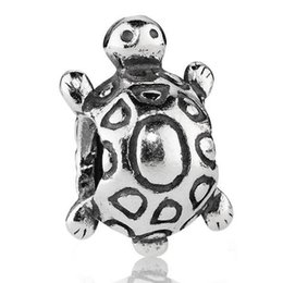 Wholesale 925 Silver Turtle - Wholesale Turtle 925 Sterling Silver Charm European Charms Bead Fit DIY Female Jewelry Snake Chain Bracelet